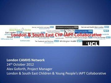 London & SE IAPT collaboration presentation Oct 12