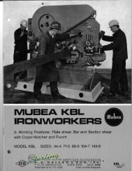 Mubea KBL Ironworker Brochure - Sterling Machinery