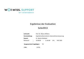 Kapitalmarktorientierte Unternehmenssteuerung - WiWi