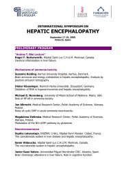 Preliminary Program HEPATIC ENCEPHALOPATHY - Afef