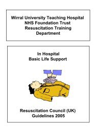 Basic Life Support - Wirral University Teaching Hospital NHS ...