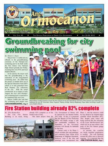 Groundbreaking for city swimming pool - Ormoc