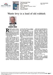 Waste Levy article