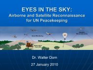 monitoring technology in un peacekeeping - Dr. Walter Dorn