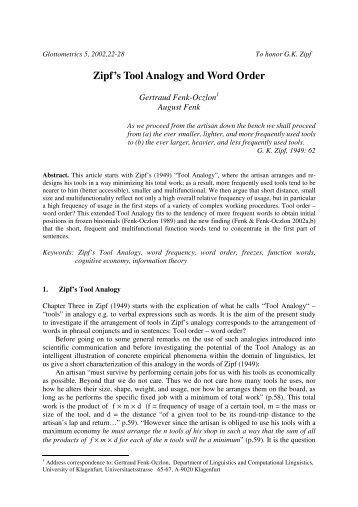 Tool Analogy - ResearchGate