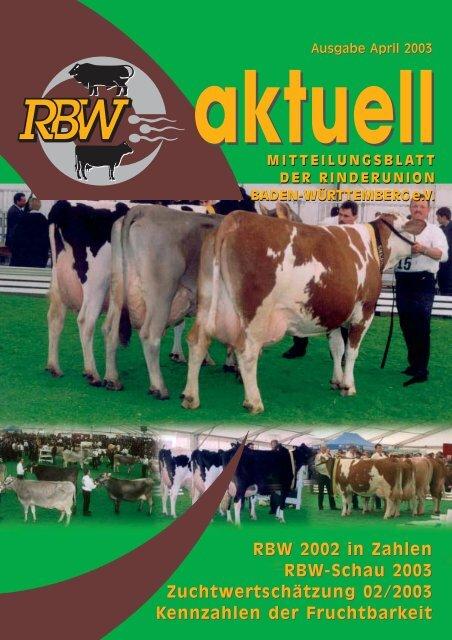 RBW-Aktuell - Mai 2003 - Rinderunion Baden-Württemberg e.V.