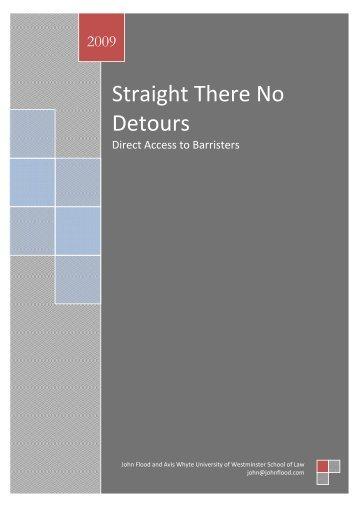 Straight There No Detours - John Flood