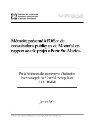 Mémoire Porte Ste-Marie - Coopératives d'habitation