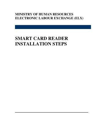SMART CARD READER INSTALLATION STEPS
