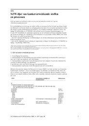 SZW-lijst van kankerverwekkende stoffen en processen