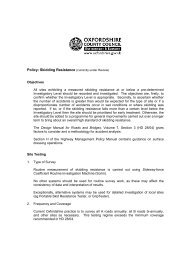 Approved Skidding Resistance Policy - Oxfordshire County Council