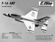 F-16 ARF Assembly Manual - E-flite