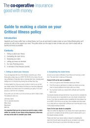 Critical illness claim guide (PDF - 0.2Mb) - Royal London