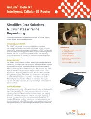 AirLink Helix RT Datasheet - Sierra Wireless