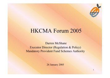 Presentation by Darren McShane - The Hong Kong Capital Markets ...