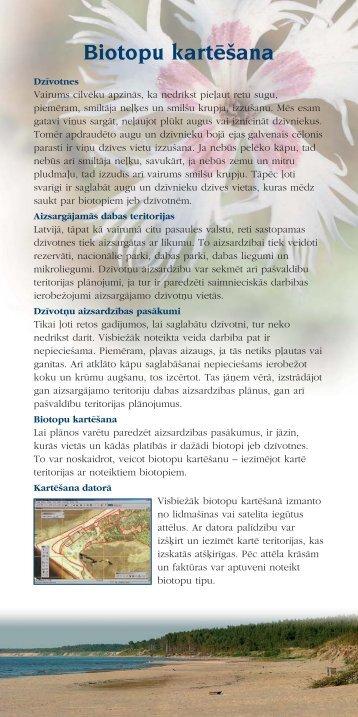 Kartesana makets - Piekrastes biotopu aizsardzība un ...