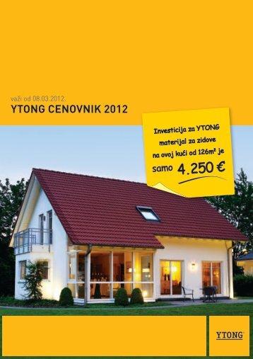 YTONG CENOVNIK 2012