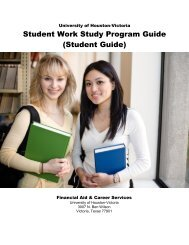WORK STUDY PROGRAM GUIDE FOR THE STUDENT EMPLOYEE ...