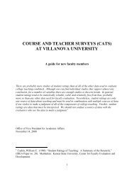 course and teacher surveys (cats) at villanova university