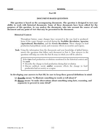 ap world history 2013 dbq sample essay