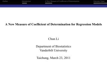 A New Measure of Coefficient of Determination for Regression ...