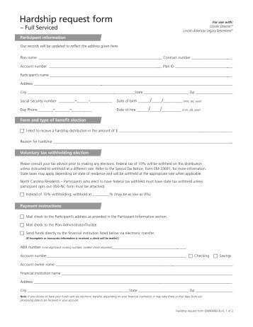 request form - Welcome to Lincoln Financial Group ...