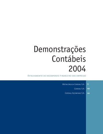 Demonstrações Contábeis 2004 - Gerdau