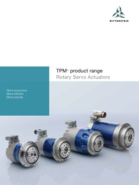 TPM+ product range Rotary Servo Actuators - WITTENSTEIN alpha