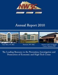 2009-2010 NW3C Annual Report - National White Collar Crime Center