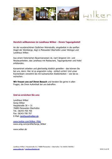 Tagungsmappe 2012 - Weingut Wilker