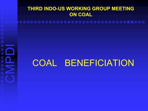 Indo-US Working Group - Office of Fossil Energy