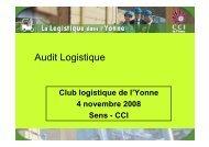 Audit Logistique - (CCI) de l'Yonne