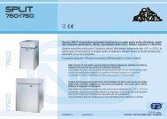 Versioni SPLIT di produttori automatici di ghiaccio a scaglie piatte ...