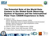 The Potential Role of the World Data Centers in the Global Earth ...