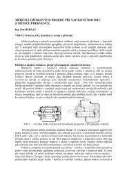 měření ložiskových proudů při napájení motoru z měniče frekvence.