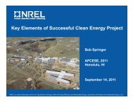 Key Elements of Successful Clean Energy Project Bob Springer