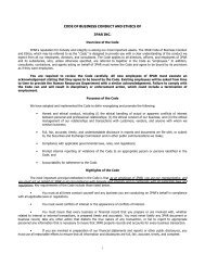 CODE OF BUSINESS CONDUCT AND ETHICS OF 3PAR INC. you ...
