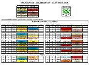 TOURNOI U13 - MIRABELLE CUP - JEUDI 9 MAI 2013