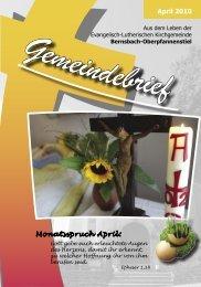 April 2010 Monatsspruch April: - posaunenchor-oberpfannenstiel.de