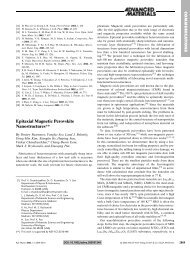 Epitaxial Magnetic Perovskite Nanostructures - Wiley Online Library