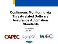 Sean Barnum - Build Security In - US-CERT