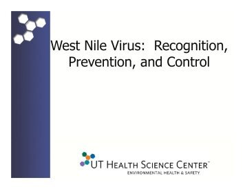 West Nile Virus: Recognition, Prevention, and Control