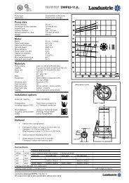 Datasheets DWP62 series 50 c/s - Landustrie