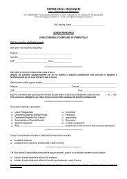 scheda variazione dati - Ordine degli Ingegneri della Provincia di ...