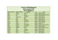 TÍTULOS PROFESIONALES (Enero-Agosto 2010) (Orden Alfabético)