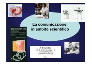 La comunicazione in ambito scientifico - EndoscopiaDigestiva.it