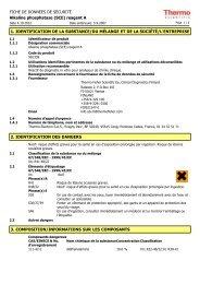 FICHE DE DONNÉES DE SÉCURITÉ Alkaline ... - Thermo Scientific