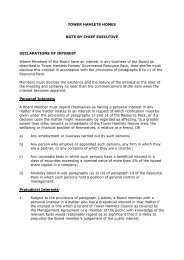Item 2 - Guidance on declarations of interest at - Tower Hamlets ...