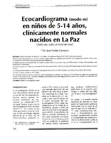 Ecocardiograma (modo m)
