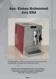 Aus- Einbau Brüheinheit Jura ENA - KOMTRA GmbH